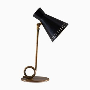 Mid-Century Scandinavian Table Lamp in Brass, 1950s