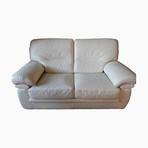 Leather 2-Seat and 3-Seat Couch, Set of 2