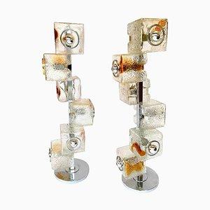 Skulpturale Stehlampen von Toni Zuccheri für VeArt, Italien, 1970er, 2er Set