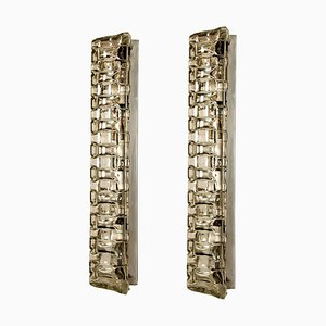 Large Glass Wall Sconces by Helena Tynell, 1960s, Set of 2