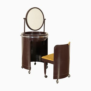 Plastic Material and Metal Dressing Table, Italy, 1950s