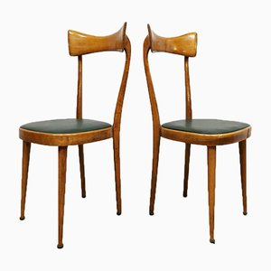 Mid-Century Italian Dining Chairs Attributed to Ico & Luisa Parisi, 1950s, Set of 5