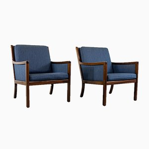 Armchairs by Ole Wanscher for P. Jeppesen, Set of 2