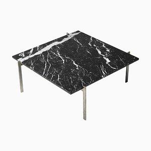 Tavolino da caffè PK61 in marmo nero di Poul Kjærholm, 1957