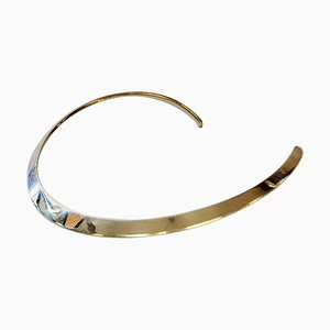 Vintage Sterling Silver Neck Ring by N.E. From, Denmark, 1960s