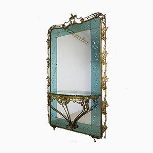 Italienischer Konsolentisch mit Spiegel von Pier Luigi Colli, 1950er