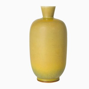 Yellow Stoneware Vase by Berndt Friberg for Gustavsberg, 1960s