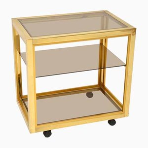 Vintage Italian Brass Drinks Trolley by Renato Zevi, 1970s