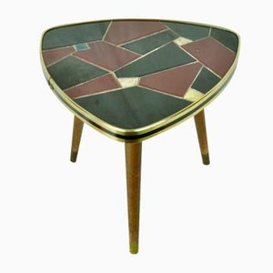 Red and Black Tiled Side Table, 1950s