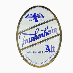 Insegna Frankenheim in metallo smaltato, anni '60