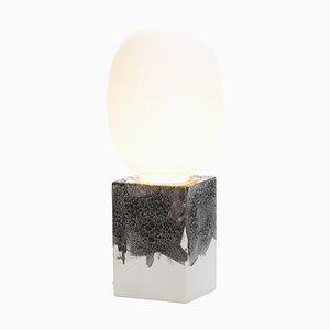 Weiße Magma One Acetato Lampe mit weißem Sockel von Ferréol Babin