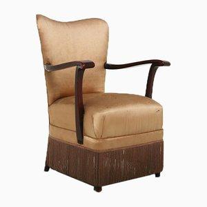 Mid-Century Beige Lounge Chair by Osvaldo Borsani for Arredamenti Borsani Varedo, 1950s