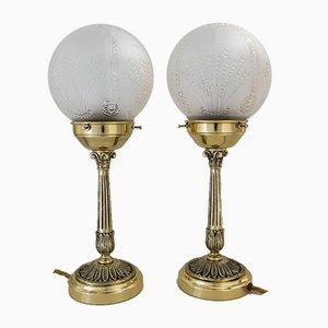 Österreichische Tischlampen, 1920er, 2er Set