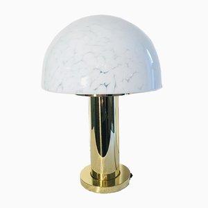 Mid-Century Metall & Glas Mushroom Tischlampe von Limburg