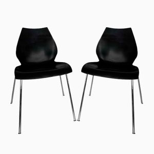 Italian Model Maui Stacking Dining Chairs by Vico Magistretti for Kartell, 2000s, Set of 2