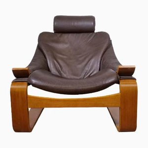 Mid-Century Leather Lounge Chair by Åke Fribyter for Nelo Möbel, 1990s