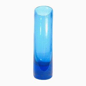 Vintage Scandinavian Glass Cylinder Vase, 1970s
