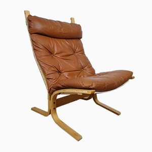 Mid-Century Leather Siesta Lounge Chair by Ingmar Relling for Westnofa