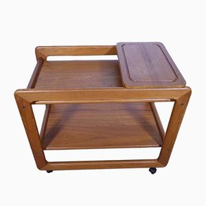 Mid-Century Danish Teak Serving Bar Cart, 1960s