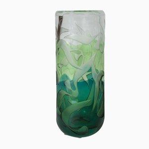 Vase en Verre par Vicke Lindstrand pour Kosta, 1950s