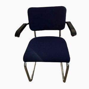 Vintage Bauhaus Wool Armchair by Mart Stam & Marcel Breuer for Thonet, 1990s