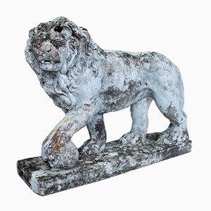 Vintage Stone Medici Lion Statue , 1920s