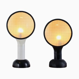 Mid-Century Italian Drive Table Lamps by Adalberto Dal Lago for Bieffeplast, Set of 2