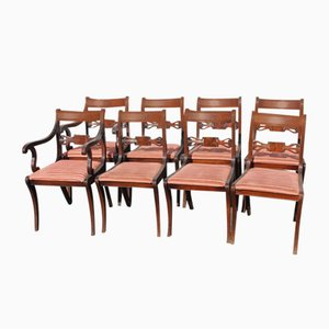 Mahogany Bar Dining Chairs with Pop Out Seats, 1960s, Set of 8
