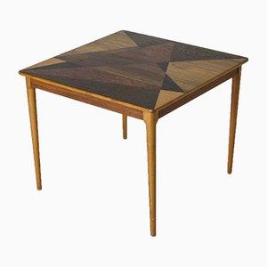 Tavolino da caffè Mid-Century intarsiato, anni '50