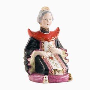 Figurine Noble Antique en Porcelaine de Vieira de Castro, Brésil