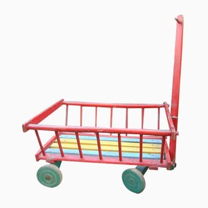 Vintage Wooden Trolley, 1970s