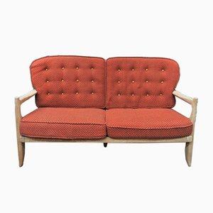 Canapé Vintage en Chêne Massif par Guillerme et Chambron pour Votre Maison, 1960s