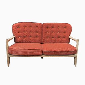 Vintage Solid Oak Sofa by Guillerme et Chambron for Votre Maison, 1960s