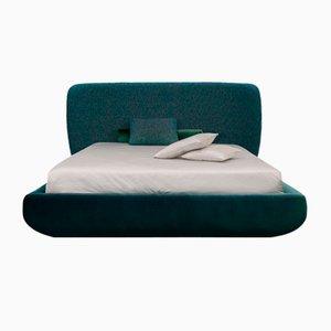 Bett aus Baumwolle & Wolle mit Samtbezug von Daniel Nikolovski & Danu Chirinciuc für Kabinet