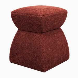 White Mohair Cusi Pouf from Kabinet