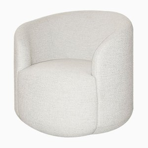 Curvy White Fabric Cottonflower Armchair by Daniel Nikolovski & Danu Chirinciuc for Kabinet