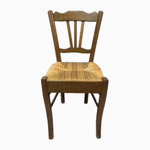 Antique Beech Side Chairs, 1900s, Set of 4