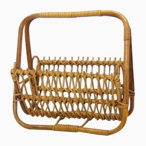 Vintage Bamboo Magazine Rack
