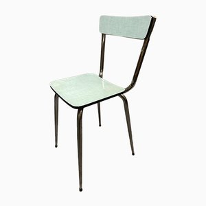 Pale Green Formica Side Chairs, 1950s, Set of 4