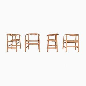 Chaises de Salle à Manger Modèle PP201 par Hans J. Wegner pour PP Møbler, Danemark, 1960s, Set de 4