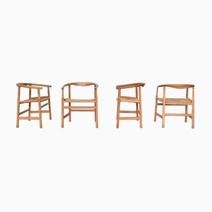 Danish Model PP201 Dining Chairs by Hans J. Wegner for PP Møbler, 1960s, Set of 4