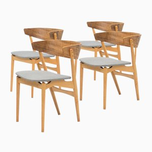 No. 7 Dining Chairs by Helge Sibast for Sibast, 1950s, Set of 4