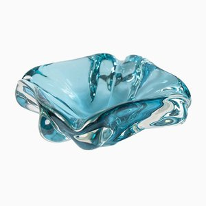 Turquoise Blue Murano Glass Ashtray, 1960s