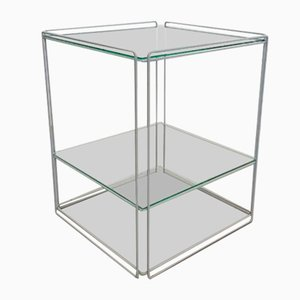 Vintage Isocele Sube Side Table with Hifi Rack by Max Sauze