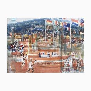 Monte Carlo Tennis Championships by Pierre Gaillardot, 1960s