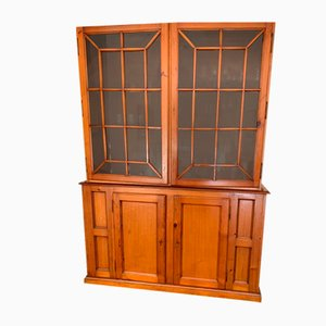 Wood Vitrine with Glass Front, 1980s