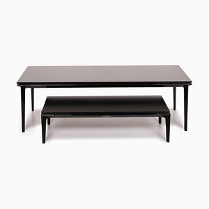 Black. Glass & Aluminum Coffee Table Set from Walter Knoll