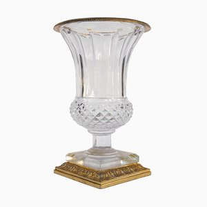 Medici Vase in Cut Crystal and Gilt Bronze, 1950s