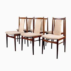 Amerikanische Mid-Century Nussholz Esszimmerstühle, 1970er, 6er Set