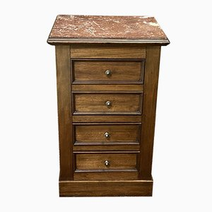 Vintage Mahogany and Marble Top Nightstand